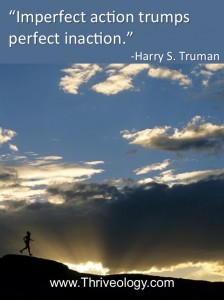 """Imperfect action trumps perfect inaction.""  Harry S. Truman"
