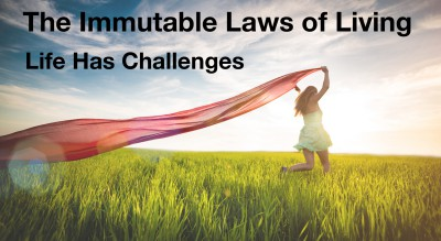 Immutable Law of Living:  Life Has Challenges.  The challenges and struggles are inevitable.  How you respond and react, that is up to you.