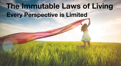 Every perspective is limited:  Immutable Law of Living