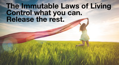 Control what you can; release the rest.  Immutable Law of Living.