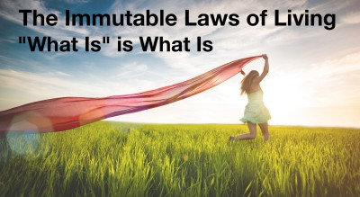 """What Is"" is what is:  Immutable Law of Living"