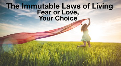 You can live in fear and threat or love and appreciation.  Your choice.