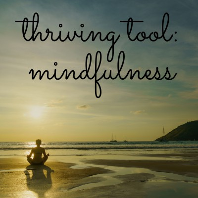 Thrive tool of mindfulness.