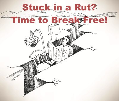 Stuck in a rut?  How to break free in this episode of the Thriveology Podcast.